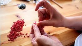 Las yemas de los dedos de Montse son las que m�s sufren con el trabajo FOT�GRAFO: MONICA IRAGO