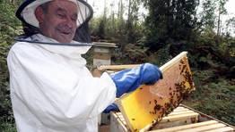 El apicultor Jos� Garc�a Abalo FOT�GRAFO: MONICA IRAGO