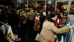 Este año la plaza acoge un poblado navideño y una pista de hielo. FOTÓGRAFO: Eduardo Pérez