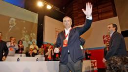 Pachi Vázquez, reelegido secretario xeral del PSdeG en el Congreso celebrado en Santiago el día 10 de marzo. FOTÓGRAFO: XOÁN A. SOLER