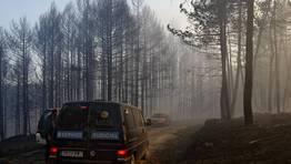 El 27 de marzo muere un brigadista en la extinción de un incendio en el parque natural de O Invernadoiro, en Ourense. FOTÓGRAFO: Santi M. Amil
