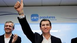 Alberto Núñez Feijoo, reelegido presidente de la Xunta tras ganar con mayoría absoluta las elecciones del pasado 21 de octubre. FOTÓGRAFO: Alvaro Ballesteros