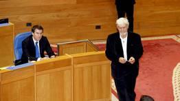 Las elecciones del 21 de octubre dieron un vuelco al panorama político gallego, con la llegada de AGE -con nueve diputados- al Parlamento. Xosé Manuel Beiras volvió a la Cámara gallega siete años después. PSdeG y BNG sufrieron un claro castigo en las urnas. FOTÓGRAFO: XOÁN A. SOLER