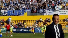 La pasada temporada vivió uno de sus peores momento con la goleada (4-0) que encajó el equipo en Alcorcón. FOTÓGRAFO: BENITO ORDOÑEZ