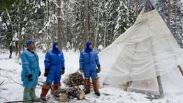 Entrenamiento de supervivencia en Rusia de cosmonautas de la Agencia Espacial Europea. FOT�GRAFO: SERGEI REMEZOV | REUTERS