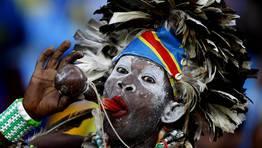 Un fan de la Rep�blica Democr�tica del Congo en un partido de la Copa de �frica. FOT�GRAFO: SIPHIWE SIBEKO | REUTERS