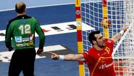 Gedeón Guardiola celebra un gol. FOTÓGRAFO: GUSTAU NACARINO | Reuters
