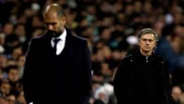 Guardiola y Mourinho. FOT�GRAFO: SERGIO PEREZ | Reuters