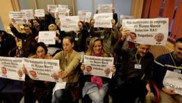Sus gritos obligaron a suspender el pleno FOTÓGRAFO: ÓSCAR VÁZQUEZ