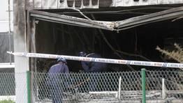 Un incendio ha provocado daños de consideración en la base del 061 en el barrio de Eirís en A Coruña. FOTÓGRAFO: Cesar Quian