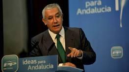 Los pagos realizados a Javier Arenas, seg�n los documentos publicados por El Pa�s, destacan entre los m�s mayores, con 9.900 euros trimestrales FOT�GRAFO: Jos� Manuel Pedrosa