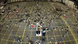 Reconstrucción del transbordador en una sala de las instalaciones de la Nasa. FOTÓGRAFO: NASA