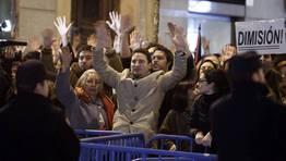 Protestas en las sedes del PP de toda Espa�a. FOT�GRAFO: Angel D�az | EFE