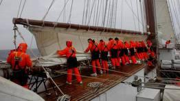 Preparación del buque para un temporal FOTÓGRAFO: Armada