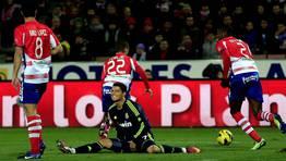 Cristiano Ronaldo marcó en propia puerta en el Granada 1 - Real Madrid 0. FOTÓGRAFO: Marcelo del Pozo | Reuters