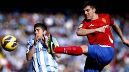 Málaga y Zaragoza empataron a un gol. FOTÓGRAFO: Jorge Zapata | Efe