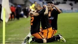 El Valencia derrot� al Celta en el descuento en Balaidos. FOT�GRAFO: Salvador Sas | Efe