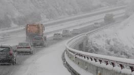 La nevada est� siendo muy intensa en esta zona de Lugo. FOT�GRAFO: PRADERO