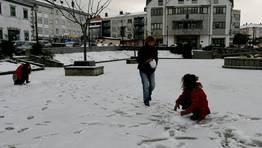 Teixeiro, en el municipio de Curtis, tambi�n amaneci� con un manto blanco. FOT�GRAFO: C�SAR DELGADO