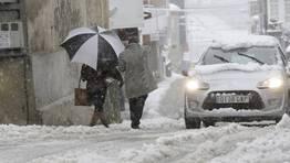Lugo es la provincia m�s afectada por el temporal de nieve FOT�GRAFO: PRADERO