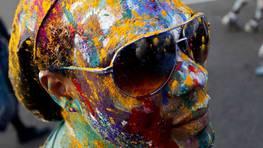 Un participante en el desfile de carnaval en la capital de Trinidad y Tobago. FOT�GRAFO: ANDREA DE SILVA | Reuters