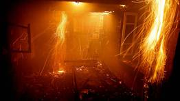 Incendio en una casa de la aldea de Vigo de Gallegos, en L�ncara. En la imagen, la cocina de la vivienda. FOT�GRAFO: ALBERTO L�PEZ