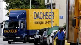 Comienzan a verse por Lugo los camiones del gigante alem�n de log�stica Dachser, que hace poco m�s de un a�o se hizo con el control total de Azkar, el l�der espa�ol de transporte y log�stica hasta el momento. FOT�GRAFO: ALBERTO L�PEZ