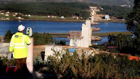 Obras del puente sobre el Ulla en Catoira MONICA IRAGO