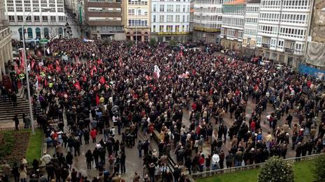 Manifestaci�n en Ferrol Cesar Toimil