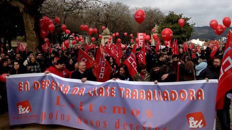 Protesta en Santiago �lvaro Ballesteros