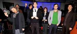 La homenajeada, segunda por la derecha, con sus amigas.