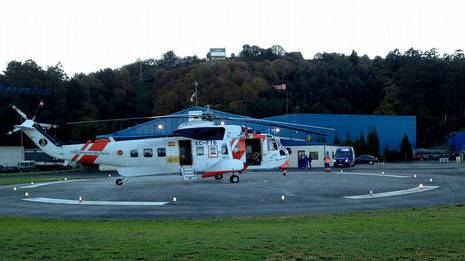Helicóptero del Salvamento Marítimo que cayó al mar Pepa Losada