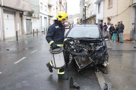 El autom�vil sufri� importantes destrozos ALBERTO L�PEZ