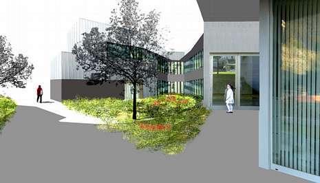 Imagen virtual del proyecto del centro de salud que se construir� en Entrerr�os, en la zona de Galeras.