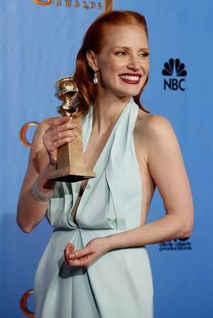 Jessica Chastain, mejor actriz dram�tica LUCY NICHOLSON