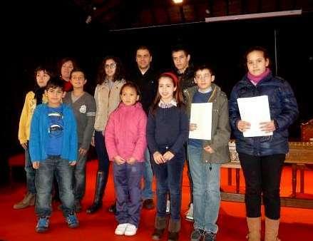 Los ni�os de Sarria recogieron los premios