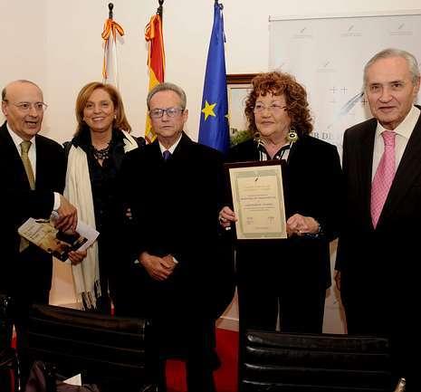 Amigos y familiares de Olano en el acto en Madrid