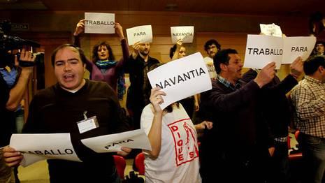 Protestas de los tarbajadores de Navantia XOAN A. SOLER