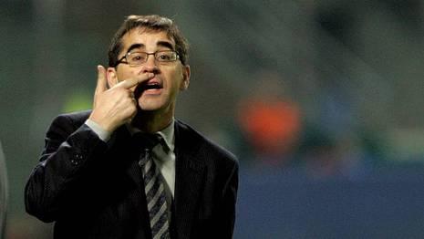 Fernando V�zquez, en el 2006 cuando dirig�a al Celta Oscar V�zquez