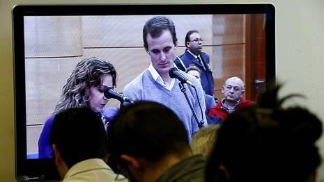 La declaraci�n de Jaksche, a trav�s de la televisi�n Juan Carlos Hidalgo   Efe