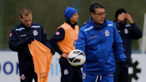 Franganillo dirigió el entrenamiento del lunes M. MARRAS