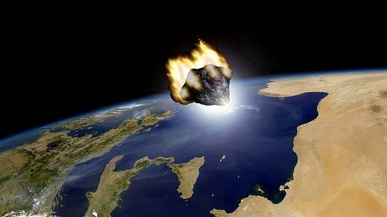 Recreación del paso del asteroide facilitada por el Observatorio Astronómico de Mallorca Efe