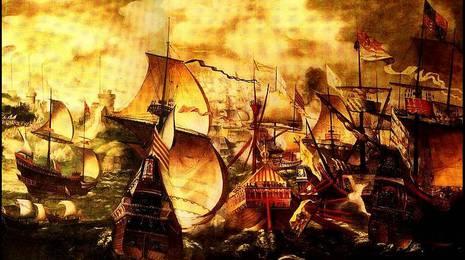 Ilustración de la Armada Invencible CEDIDA