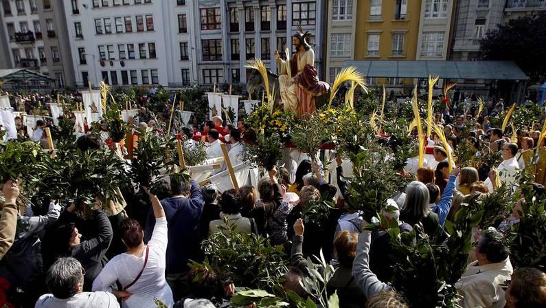 Procesión de la Borriquita en Domingo de Ramos. GUSTAVO RIVAS
