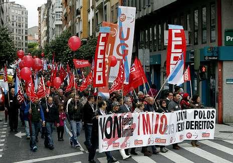 UGT y CC.OO. s� marcharon unidos para celebrar el Primero de Mayo.