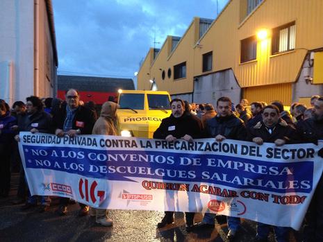 Protesta de los trabajadores de Prosegur en A Coruña Emiliano Mouzo