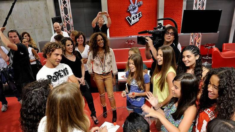 Uno de los momentos de la grabaci�n de �La Voz Kids� Telecinco | EFE