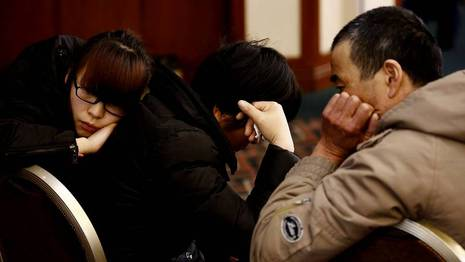 Familiares de los pasajeros KIM KYUNG-HOON | REUTERS